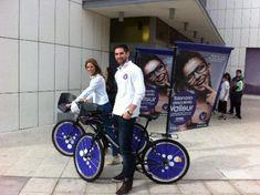 Publi Ciclo - Bicicletas con publicidad Advertising Channels, Food Advertising, Fruit And Veg Shop, Bike Food, Bike Trailer, Troops, Baby Strollers, Branding, Ads