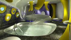 Fantastic and bizarre design of the **** B4 Milano, a hotel designed by famous architect Simone Micheli...