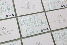 Letterpress business cards - cartes de visite en letterpress
