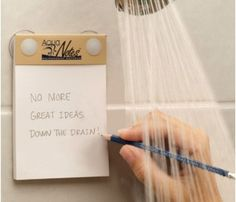 Waterproof Notepad & Pencil Set by Living Royal >> Awesome!