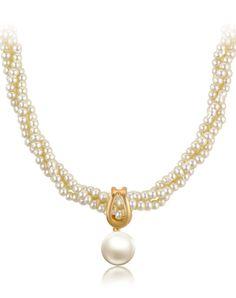 #AdoreWe #VIPme (VIPSHOP Global) CAROMAY Elegant Pearl Necklace - AdoreWe.com