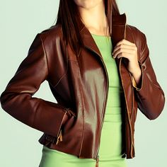 Brown Nappa Leather Jacket by DemetKaratas on Etsy https://www.etsy.com/listing/98126167/brown-nappa-leather-jacket