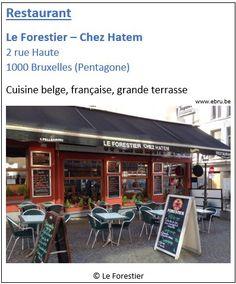 Restaurant Le Forestier - 2 rue Haute - Bruxelles Pentagone