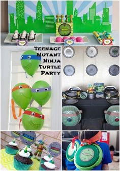 Teenage Mutant Ninja Turtles Party Ideas www.spaceshipsandlaserbeams.com