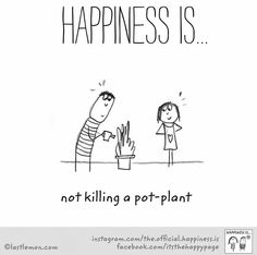 ~Happiness is not killing a pot plant~
