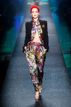 Jean Paul Gaultier S/S 2013, The 80's Go BANG - David Bowie