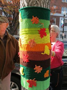 Dupont Circle in Washington, DC, I've been wanting to do this to our tree for awhile now. Maybe for Christmas....