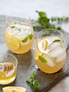 Whiskey Lemonade with Honey Simple Syrup