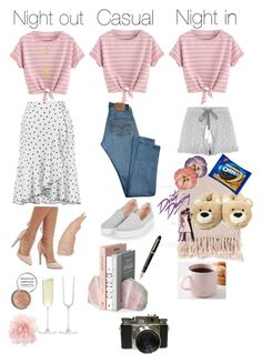 """""""One top, three outfits."""" by venter-alicia on Polyvore featuring Surya, River Island, Forever 21, Fitz & Floyd, Levi's, Topshop, Fountain, Bik Bok, Charlotte Russe and Obsessive Compulsive Cosmetics"""