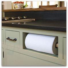 Paper towel holder in drawer