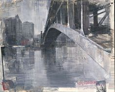 Alexey Alpatov, metro bridge, 2008 - mixed media on canvas, 80/100cm