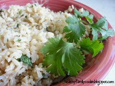 Healthy Family Cookin: Cilantro Lime Brown Rice {Electric Pressure Cooker Recipe}