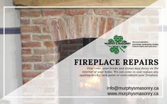 Over time, your bricks and stones may decay on the interior of your home. We can come in and replace any spalling bricks, tuckpoint or even rebuild your fireplace.