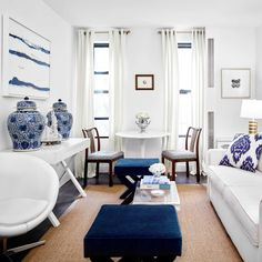 How a Small-Space Expert Makes the Most of Her 450-Square-Foot Walk-Up  meaghankimballinteriors.com