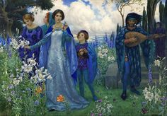 A Song of Love // Harry George Theaker (British painter) 1873 - 1954