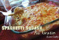 Yumm-Recipes |   SPAGHETTI SQUASH AU GRATIN (LOW CARB)