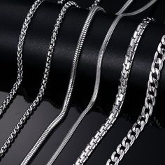 Fashion Silver & Gold Plated Chain Necklace For Men Women