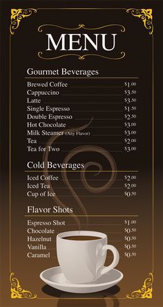 vettoriale coffee restaurant cafe menu template design cafe