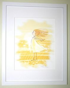 What little girl doesn't love the wind?! She feels like she is flying! There is something so magical about feeling the wind on your face. This print would be pe