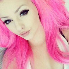 Pink Hair & Makeup
