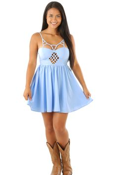 Going To California Dress: Baby Blue...save 10% and get free shipping everytime by using code CSMITHREP at the checkout