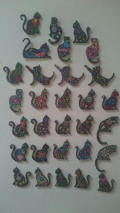 Imanes de gatos para la nevera