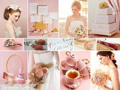 {Sweet, Sweet Love}; Dusty Rose, Peach, Antique Gold, Ivory & White