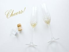 13 DIY Bridesmaid Gift Ideas- Confetti Champagne Flutes