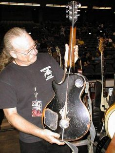 Neil Young's 'Old Black' Gibson Les and from the back