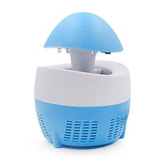 Aisi Mosquito Killer Practical LED Light Electric Socket Mosquito Bug Insect Trap Night Lamp Killer Zapper (Blue)