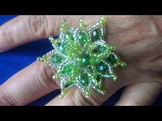 anillo de flor verde de roqueles paso a paso - YouTube