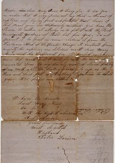 Love letter from a devoted husband, Peter Lawson. Dear Mary Anne, dated 18 August 1872,  Page2 Back of letter.
