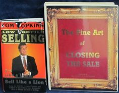 The Fine Art of Closing the Sale - Tom Hopkins with Bonus Hardcover Book - This is a wonderful audio book set on cassette by the internationally acclaimed Sales Trainer and author, Tom Hopkins.  As a bonus to this great set is Tom Hopkin's 1994 book Low Profile Selling: Act Like a Lamb....Sell Like a Lion.  This is a terrific set by one of most famous Sales Trainer's in the world.  Add it to your library.