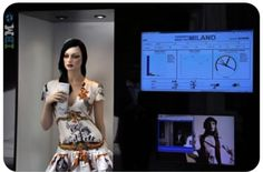 """The new """"EyeSee"""" mannequins by Italian company Almax have cameras inside their eyes that can track customers as they shop:"""
