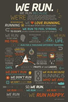 We run because we're runners..
