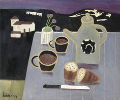 Mary Fedden | Breakfast Life Table, Graphic Illustration, Illustrations, Oil Pastel Art, Still Life Art, Naive Art, Artist At Work, Art Pictures, Food Art