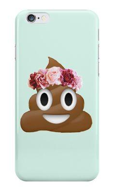 """flower crown poop emoji hipster tumblr"""" iPhone Cases & Skins by ..."""
