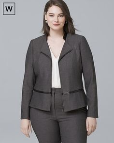 Plus Luxe Suiting Jacket - White House Black Market Work Fashion, Curvy Fashion, Plus Size Fashion, Professional Wardrobe, Professional Dresses, Curvy Outfits, Plus Size Outfits, Looks Plus Size, Fall Outfits For Work