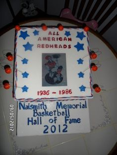 #allamericanredheads #bhof  #cakecentral #cakes this cake served as the center piece for the hall of fame ceremony
