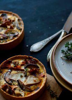 Pilz Tartelettes mit Speck  si-style-rezepte