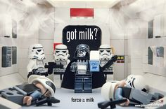 LEGO Star Wars got milk  Vader-Y Thanks for the milk now how do I drink it