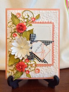 JanMade Cards: February 2014 buildaflwr embelly#2, med rose strp
