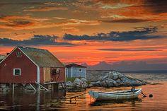 Last Light at Peggy's Cove Harbor a Quaint by RandyNyhofPhotos