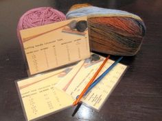 free download of Handy Reference Cards for Knitters (and crocheters)