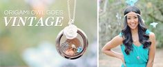 #origamiowl goes VINTAGE! Click to stay connected on Facebook #livinglocket #customizablejewelry