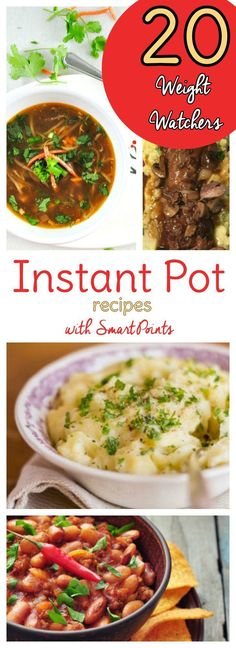 20 Weight Watchers Instant Pot Recipes with Points Calculated! These Instant Pot Weight Watchers recipes with Smart Points will help you stick with your diet plan due to the convenience factor! Healthy Diet Recipes, Ww Recipes, Crockpot Recipes, Dinner Recipes, Healthy Eating, Cooking Recipes, Fast Recipes, Dinner Ideas, Cooking Rice