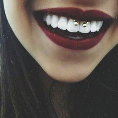 smiley piercing.