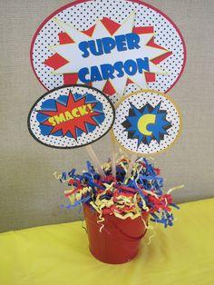 Centro de mesa para Superheroes