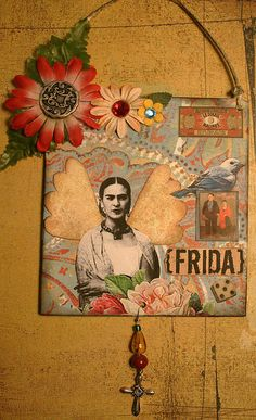 Frida Kahlo collage by Sea Dream Studio Frida E Diego, Frida Kahlo Diego Rivera, Frida Art, Mexican Artists, Mexican Folk Art, Collages, Collage Art, Kahlo Paintings, Mo S