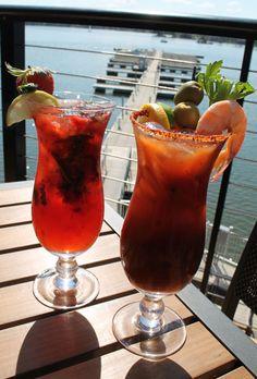 Strawberry Mojito and Spicy Bloody Mary at Liberty on the Lake at Lake Murray, SC